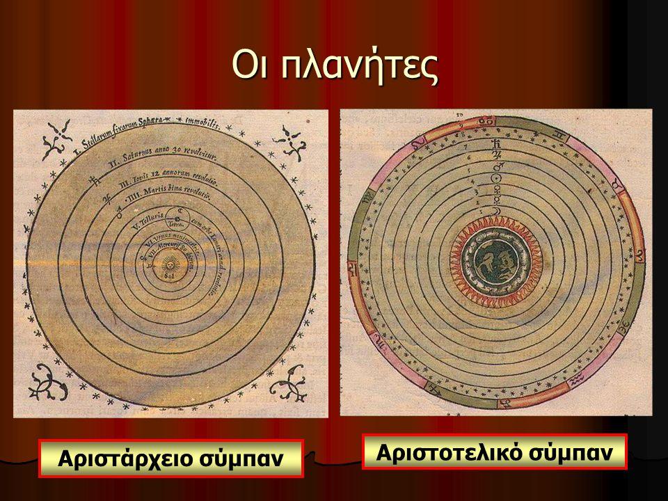 Αριστοτελικό σύμπαν Αριστάρχειο σύμπαν