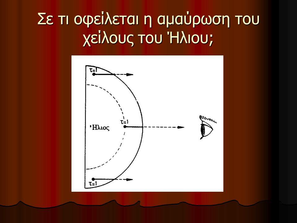 Σε τι οφείλεται η αμαύρωση του χείλους του Ήλιου;