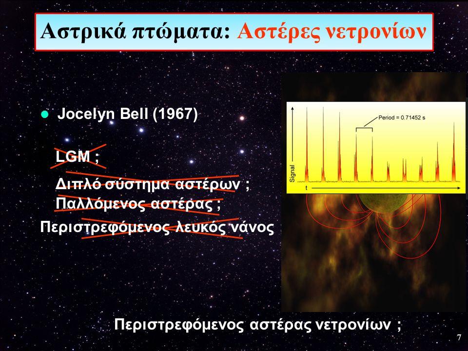 18 Πίεση εκφυλισμένων νετρονίων Αστρικά πτώματα: Αστέρες νετρονίων