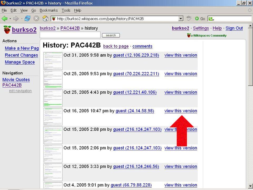 MIT IST – Χρήση ενός Wiki Παρακολούθηση παρουσιάσεων και εκδόσεων Παρακολούθηση παρουσιάσεων και εκδόσεων