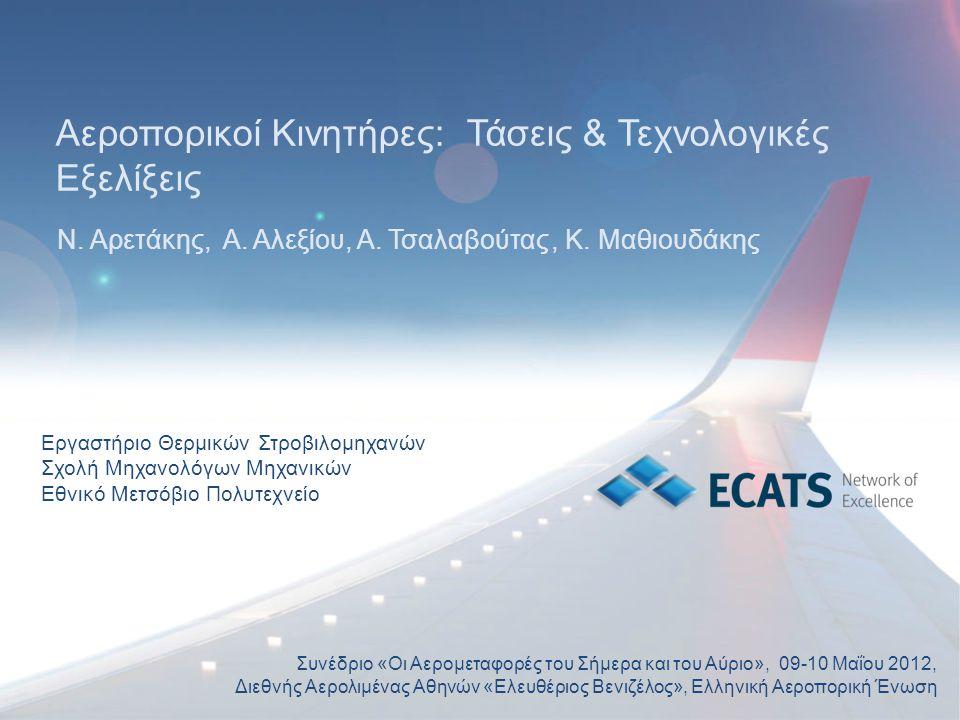 Αεροπορικοί Κινητήρες: Τάσεις & Τεχνολογικές Εξελίξεις Ν. Αρετάκης, Α. Αλεξίου, Α. Τσαλαβούτας, Κ. Μαθιουδάκης Συνέδριο «Οι Αερομεταφορές του Σήμερα κ