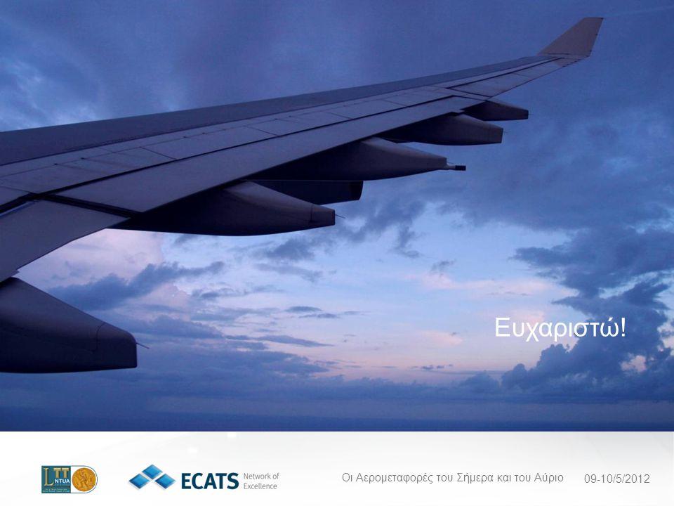 Οι Αερομεταφορές του Σήμερα και του Αύριο 09-10/5/2012 Ευχαριστώ!