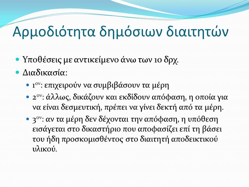 Δικασταὶ κατὰ δήμους Μονομελή δικαστήρια Από τα μέσα του 5 ου αιώνα π.Χ.