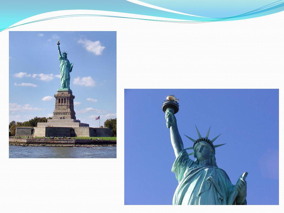 ΤΟ ΑΓΑΛΜΑ ΤΗΣ ΕΛΕΥΘΕΡΙΑΣ Το άγαλμα της Ελευθερίας είναι ψηλό άγαλμα, το οποίο εικονίζει την Ελευθερία ως γυναικεία μορφή, να κρατά στο υψωμένο δεξί τη
