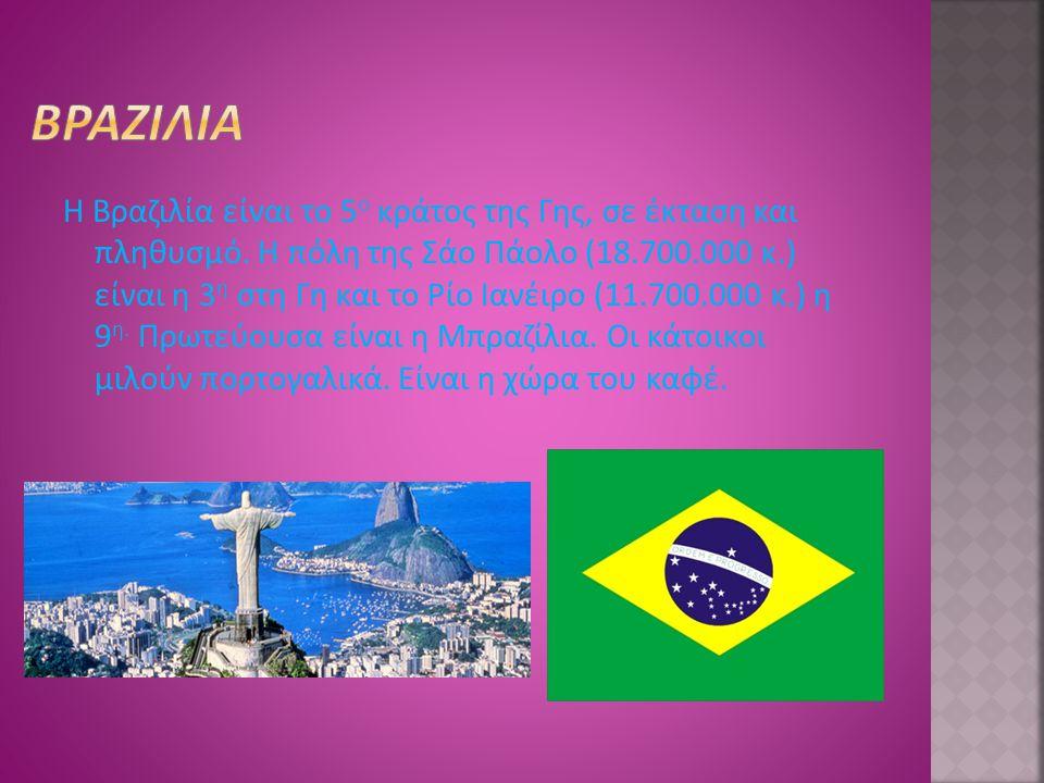 Ο Αμαζόνιος (μήκος 6.436 χλμ.) είναι το μεγαλύτερο ποτάμι της Γης σε ποσότητα νερού και το δεύτερο σε μήκος.