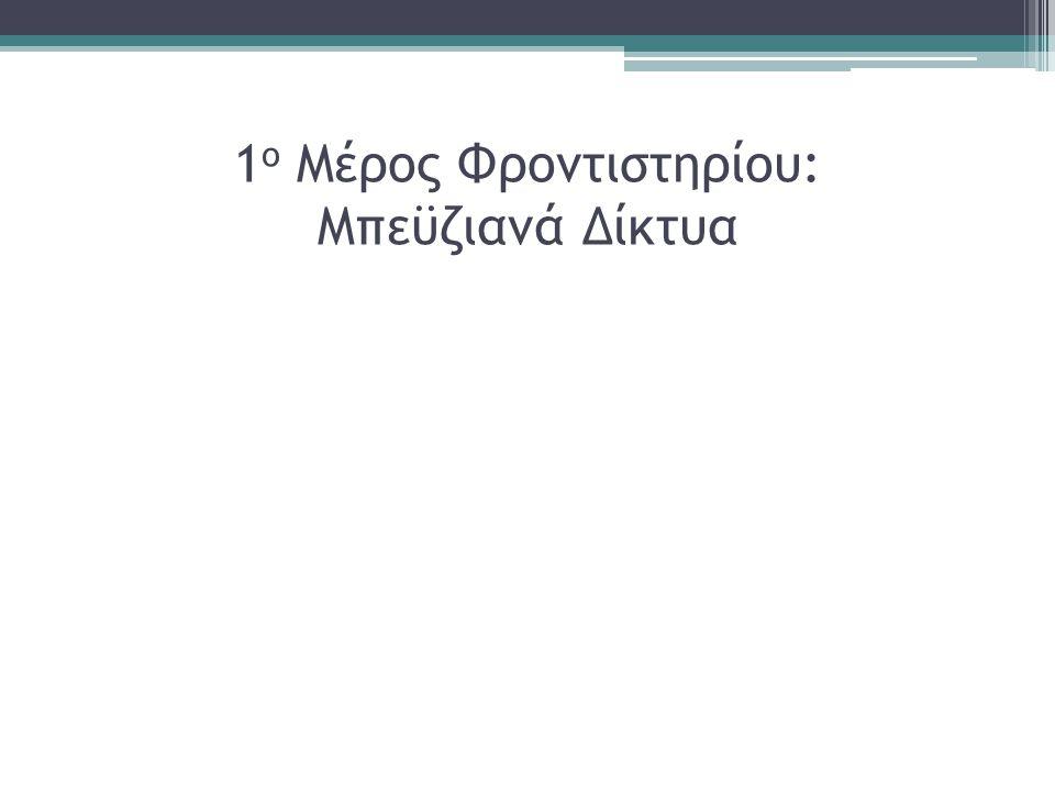 Εισαγωγή στα Νευρωνικά δίκτυα (2/4) Βήματα: Αναγνώριση των χαρακτηριστικών εισόδου και εξόδου Κατασκευή ενός δικτύου με την κατάλληλη αρχιτεκτονική Επιλογή του σωστού συνόλου εκπαίδευσης Εκπαίδευση του δικτύου με βάση ένα αντιπροσωπευτικό σύνολο δεδομένων που θα απεικονίζονται έτσι ώστε να μεγιστοποιηθεί η δυνατότητα του δικτύου να αναγνωρίζει τα πρότυπα Έλεγχος του δικτύου με χρήση κατάλληλου συνόλου ελέγχου που θα είναι ανεξάρτητο από το σύνολο εκπαίδευσης