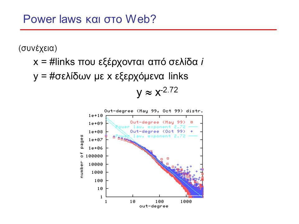 Power laws και στο Web.