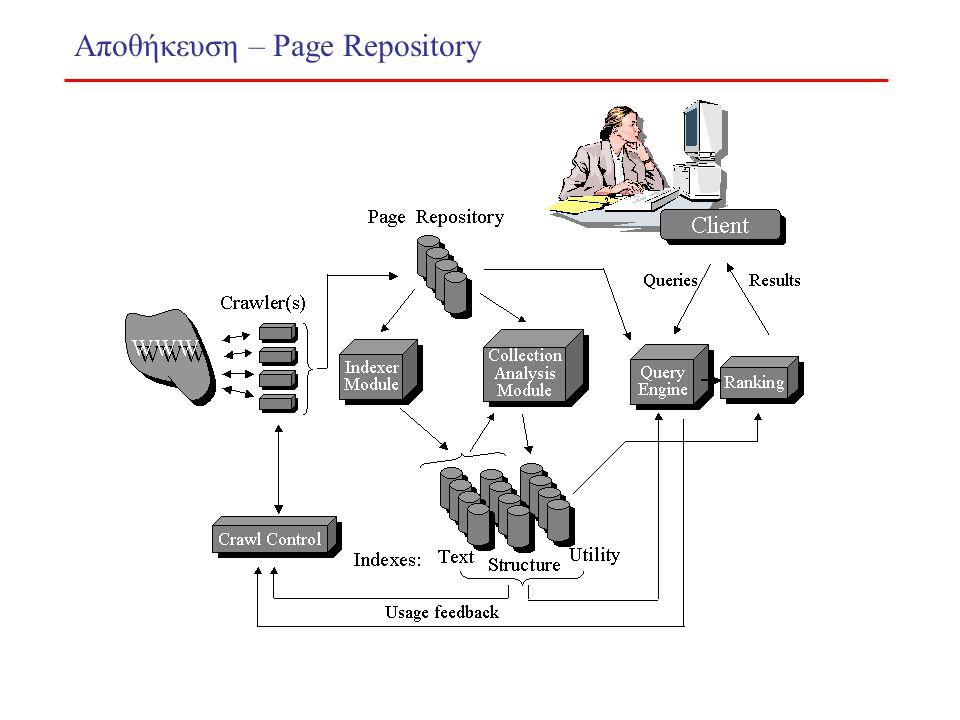 Αποθήκευση – Page Repository