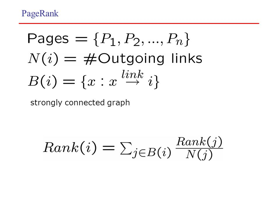PageRank strongly connected graph