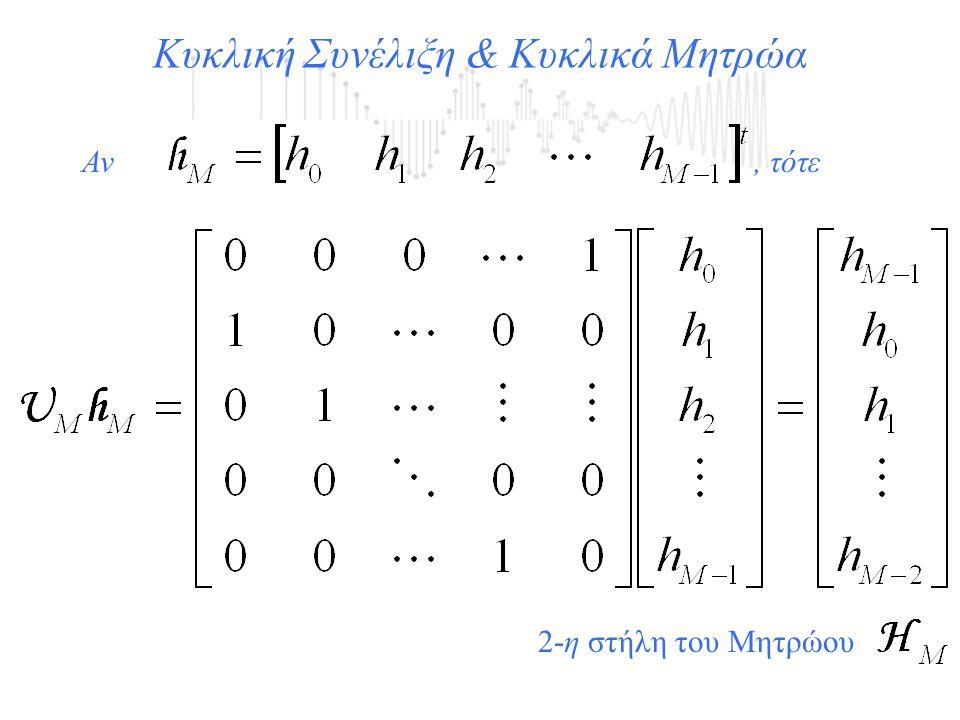 Κυκλική Συνέλιξη & Κυκλικά Μητρώα Αν, τότε 2-η στήλη του Μητρώου