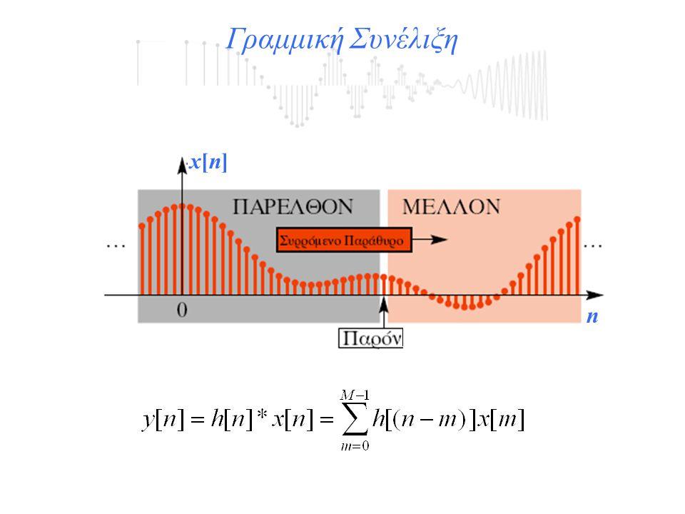 x[n]x[n] n Γραμμική Συνέλιξη