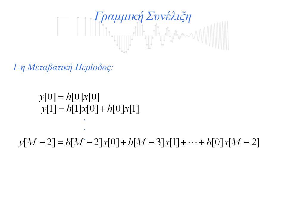 Γραμμική Συνέλιξη...... 1-η Μεταβατική Περίοδος:
