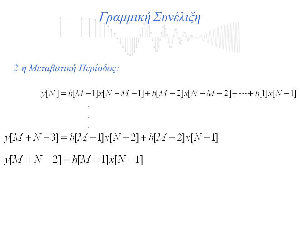 Γραμμική Συνέλιξη...... 2-η Μεταβατική Περίοδος: