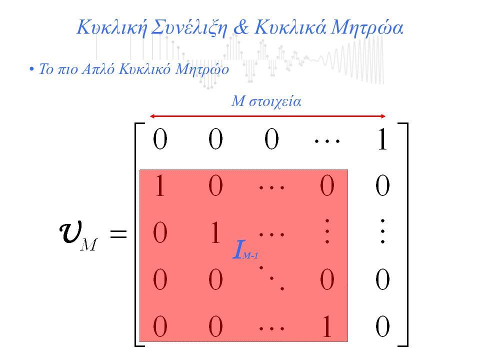 Μ στοιχεία Ι Μ-1 Το πιο Απλό Κυκλικό Μητρώο