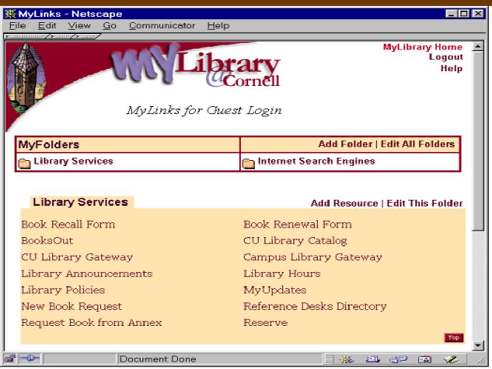 10 H MyUpdates βοηθά τους χρήστες να μένουν ενημερωμένοι για τους νέους πόρους και το καινούργιο υλικό της βιβλιοθήκης.