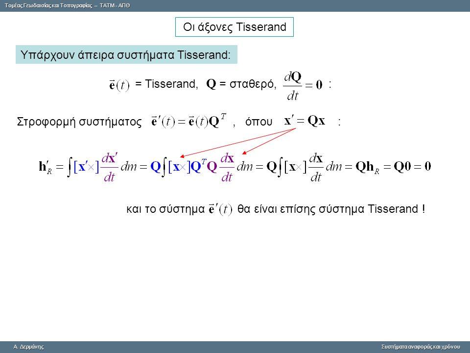 Tομέας Γεωδαισίας και Τοπογραφίας – ΤΑΤΜ - ΑΠΘ A. ΔερμάνηςΣυστήματα αναφοράς και χρόνου A. Δερμάνης Συστήματα αναφοράς και χρόνου Υπάρχουν άπειρα συστ