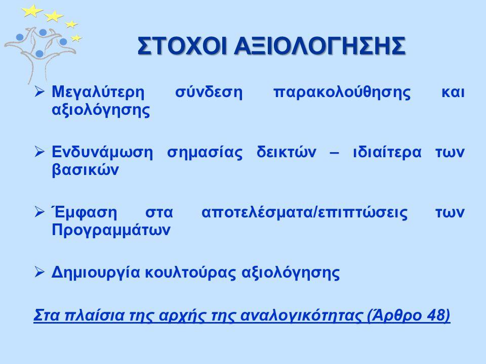 ΠΡΟΓΡΑΜΜΑΤΙΖΟΜΕΝΕΣ ΑΞΙΟΛΟΓΗΣΕΙΣ (4) 2.Αξιολόγηση του Σχεδίου Επικοινωνίας για τα Επιχειρησιακά Προγράμματα «Αειφόρος Ανάπτυξη και Ανταγωνιστικότητα» και «Απασχόληση, Ανθρώπινο Κεφάλαιο και Κοινωνική Συνοχή» ΓΕΝΙΚΟΣ ΣΤΟΧΟΣ Αξιολόγηση της αποτελεσματικότητας των μέτρων/εργαλείων Πληροφόρησης και Δημοσιότητας του Επικοινωνιακού Σχεδίου σε σχέση με την επίτευξη των στόχων του.Χρονοδιάγραμμα Αρχές του 2011