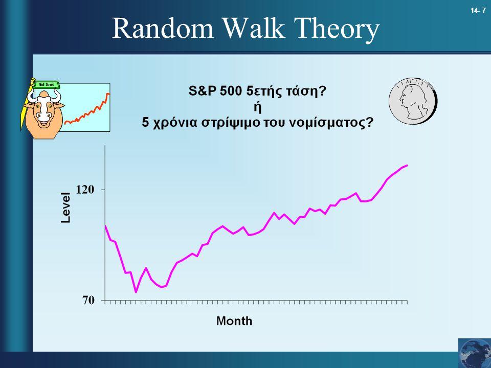 14- 7 Random Walk Theory
