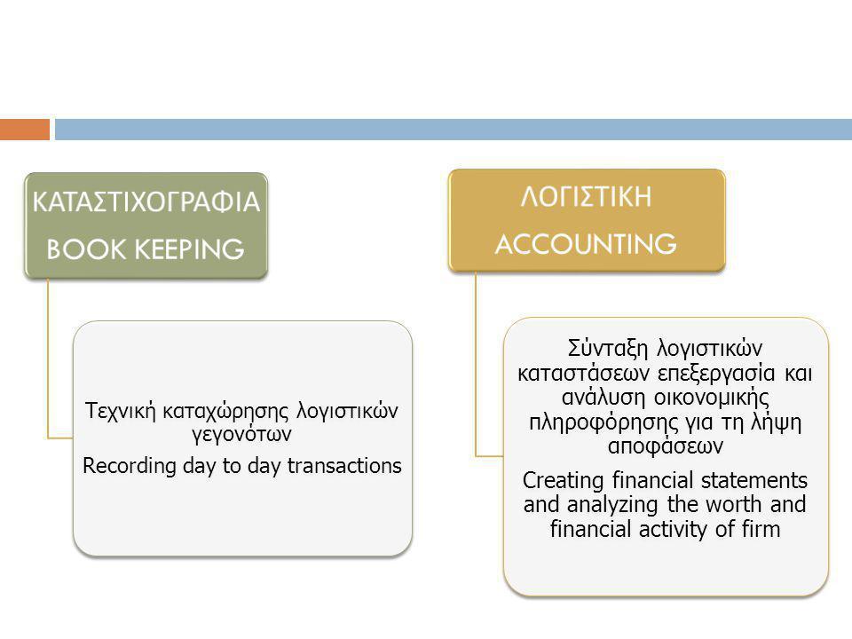 ΛΟΓΙΣΤΙΚΗ ΠΛΗΡΟΦΟΡΗΣΗ ΛΗΨΗ ΑΠΟΦΑΣΕΩΝ Ενδιαφερόμενοι για τη Λογιστική Πληροφόρηση Users of Accounting Information ΙΔΙΟΚΤΗΤΕΣ ONNERS STOCKHOLDERS ΠΡΟΜΗΘΕΤΕΣ SUPPLIERS ΔΑΝΕΙΣΤΕΣ - ΠΙΣΤΩΤΕΣ LENDERS-CREDITORS ΔΙΟΙΚΗΤΙΚΑ ΣΤΕΛΕΧΗ MANAGERS ΕΠΙΧΕΙΡΗΣΗ BUSINESS FIRM ΚΡΑΤΟΣ – ΚΥΒΕΡΝΗΣΗ GOVERNMENT STATE ΕΡΓΑΖΟΜΕΝΟΙ EMPLOYEES ΕΚΠΡΟΣΩΠΟΙ ΚΟΙΚΩΝΙΚΩΝ ΦΟΡΕΩΝ SOCIAL ORGANIZATIONS ΧΡΗΜΑΤΟΟΙΚΟΝΟΜΙΚΗ ΑΝΑΛΥΤΕΣ FINANCIAL ANALYSTS INVESTMENTS ANALYSTS ΠΕΛΑΤΕΣ CUSTOMERS ΕΠΕΝΔΥΤΕΣ INVESTORS