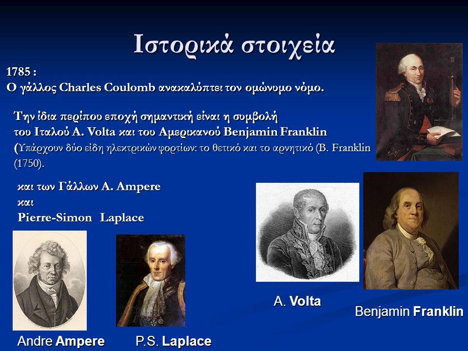 1785 : Ο γάλλος Charles Coulomb ανακαλύπτει τον ομώνυμο νόμο.