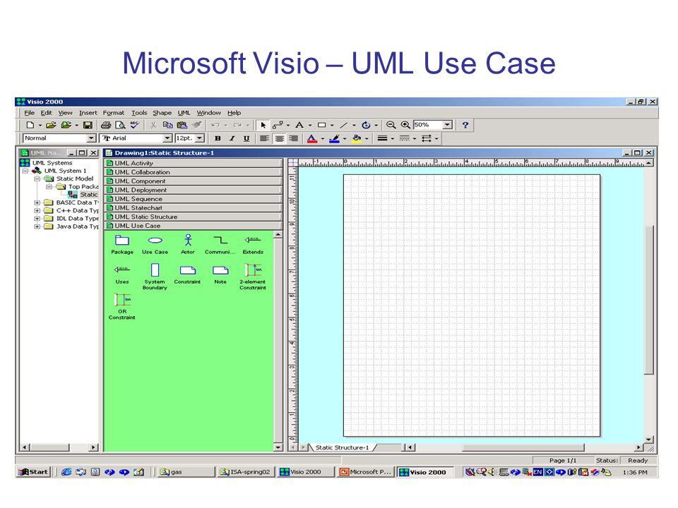 Microsoft Visio – UML Use Case