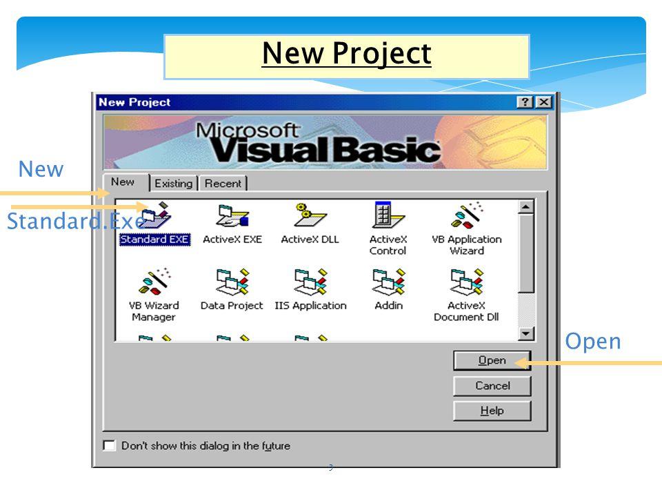 Βασικά στοιχεία περιβάλλοντος της Visual Basic Title bar ToolBar Menu Bar ToolBox Project Explorer Properties Window Form Layout Φόρμα 4