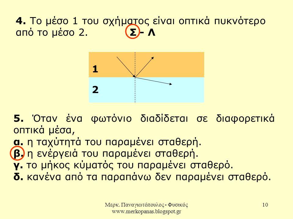 Μερκ.Παναγιωτόπουλος - Φυσικός www.merkopanas.blogspot.gr 10 4.