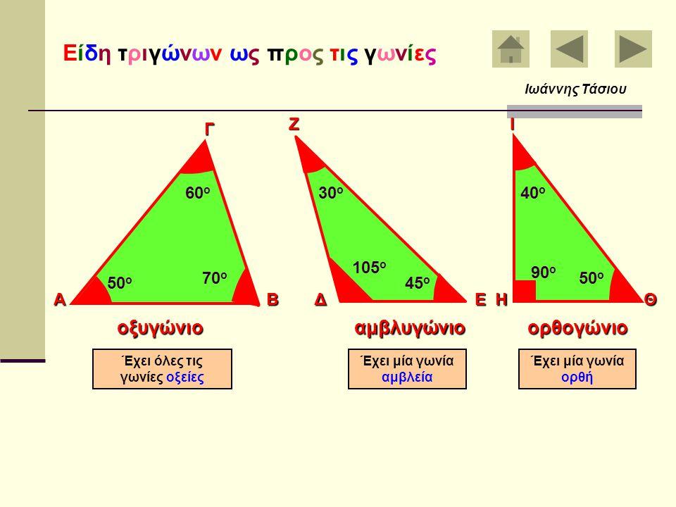 Τα τρία ύψη του τριγώνου ΑΒ Γ Με τη βοήθεια του γνώμονα χαράζουμε τα τρία ύψη του τριγώνου ΑΒΓ Δ Ζ Ε Ο Τα τρία ύψη του τριγώνου περνούν από ένα κοινό
