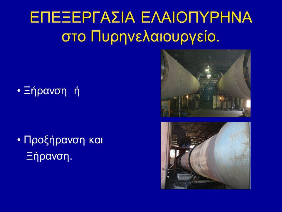 ΕΠΕΞΕΡΓΑΣΙΑ ΕΛΑΙΟΠΥΡΗΝΑ στο Πυρηνελαιουργείο. Ξήρανση ή Προξήρανση και Ξήρανση.