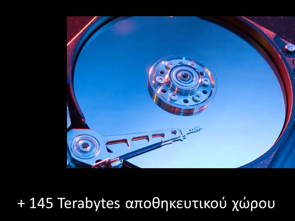 + 145 Terabytes αποθηκευτικού χώρου