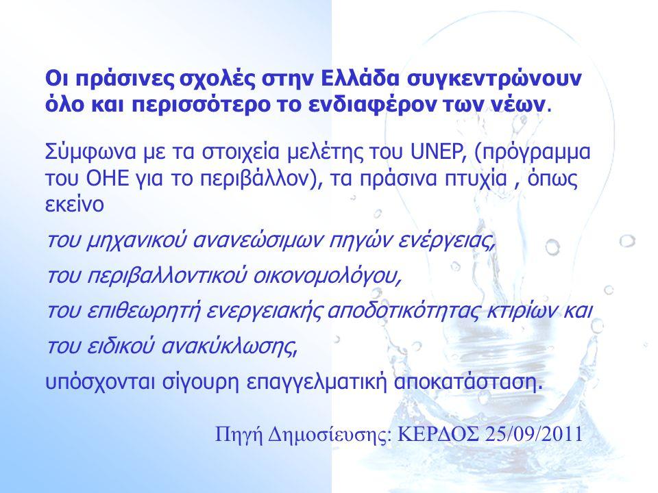 Οι πράσινες σχολές στην Ελλάδα συγκεντρώνουν όλο και περισσότερο τo ενδιαφέρον των νέων.