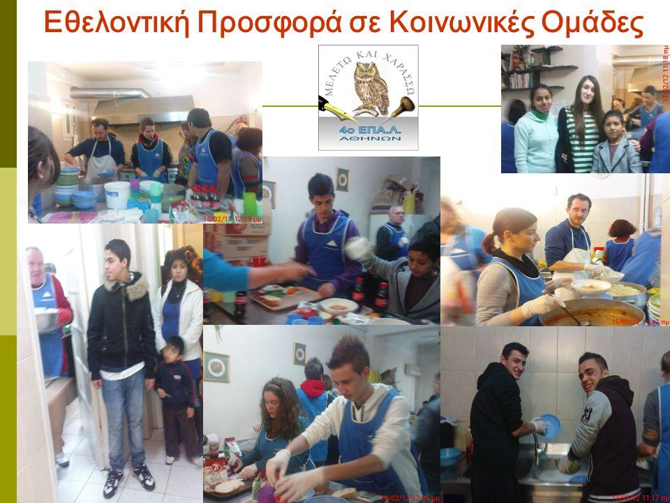 Εθελοντική Προσφορά σε Κοινωνικές Ομάδες