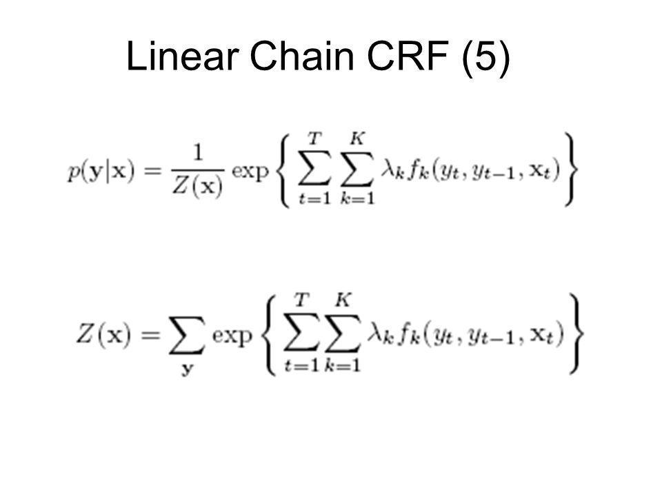 Linear Chain CRF (5)