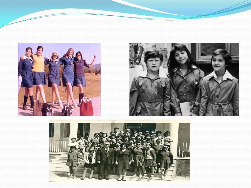Κατάργηση Σχολικής Ποδιάς Το 1982 καταργείται η σχολική ποδιά.