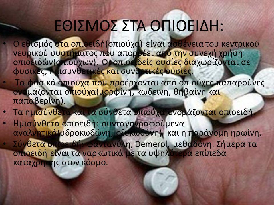 Τα συμπτώματα εθισμού στα οπιοειδή είναι τα εξής: Ανεξέλεγκτη, έντονη επιθυμία για ναρκωτικά.