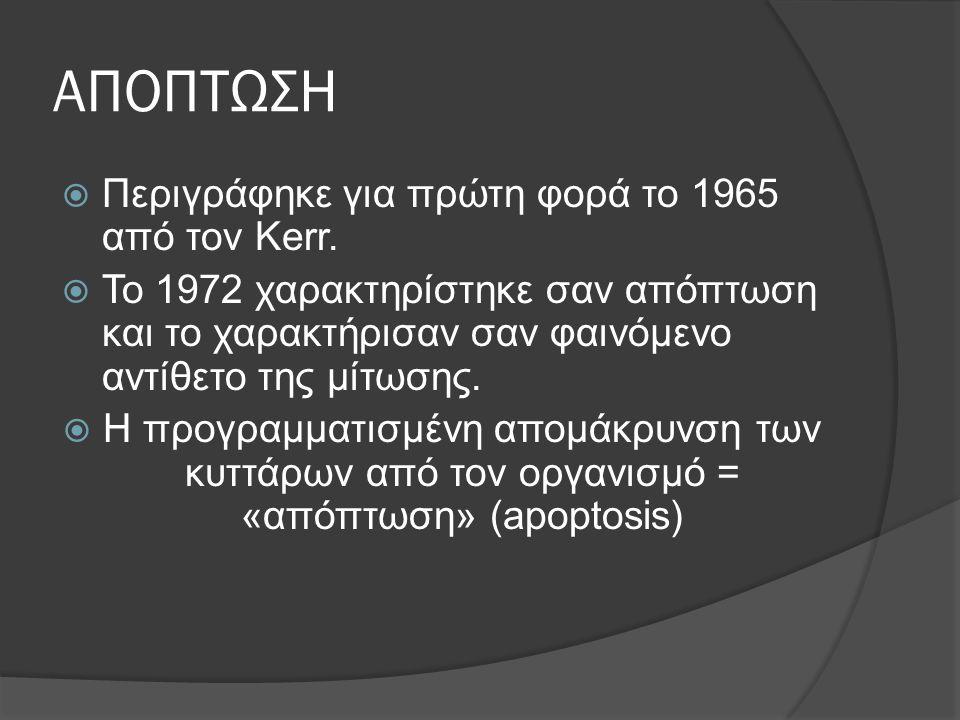 ΑΠΟΠΤΩΣΗ  Περιγράφηκε για πρώτη φορά το 1965 από τον Kerr.