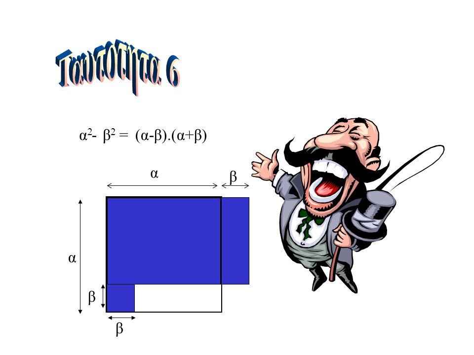 α2α2 β2β2 =(α-β).(α+β)-