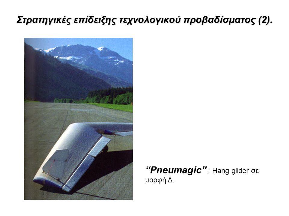 Στρατηγικές επίδειξης τεχνολογικού προβαδίσματος (2). Pneumagic : Hang glider σε μορφή Δ.
