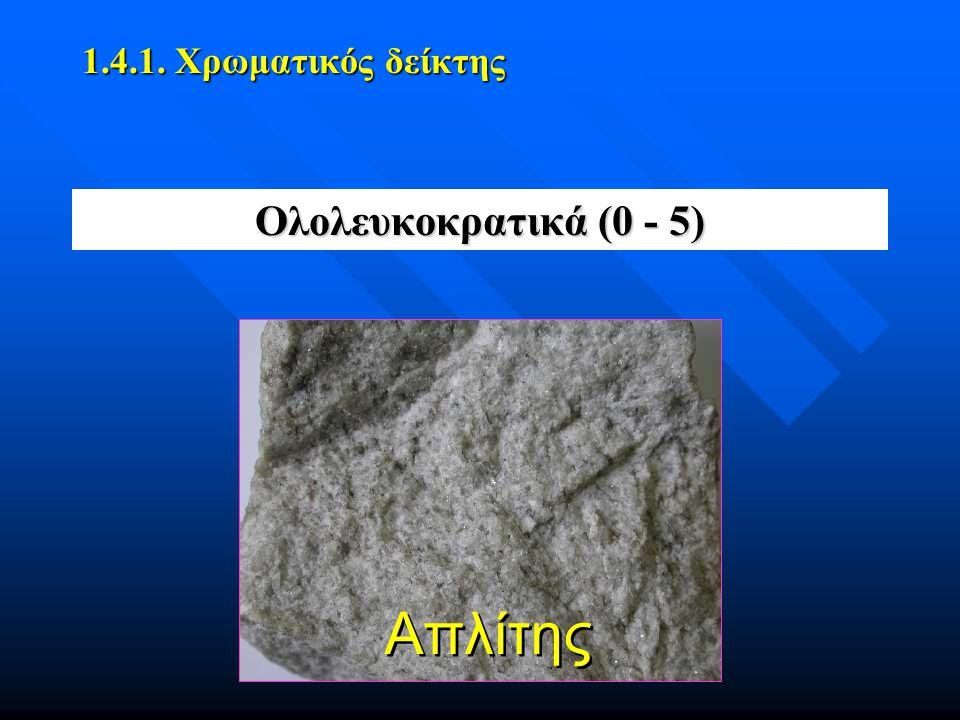 Ολολευκοκρατικά (0 - 5) 1.4.1. Χρωματικός δείκτης Απλίτης