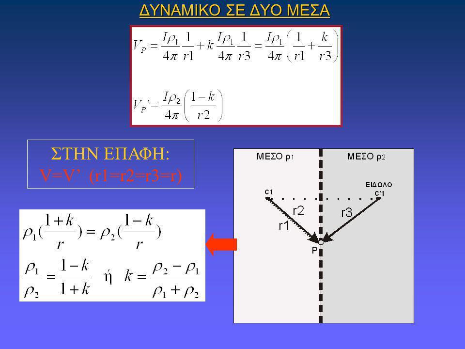 ΣΤΗΝ ΕΠΑΦΗ: V=V' (r1=r2=r3=r)