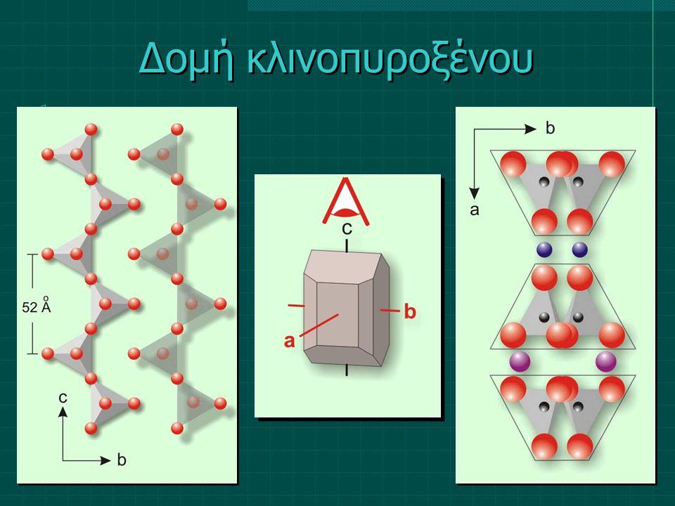 M1M1 Al, Fe, Mg, Mn ΤΤ Si, Al M2M2 Ca, Na, K