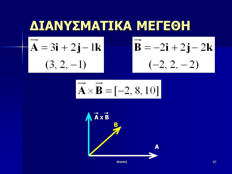 Φυσική67 ΔΙΑΝΥΣΜΑΤΙΚΑ ΜΕΓΕΘΗ Β Α A X Β