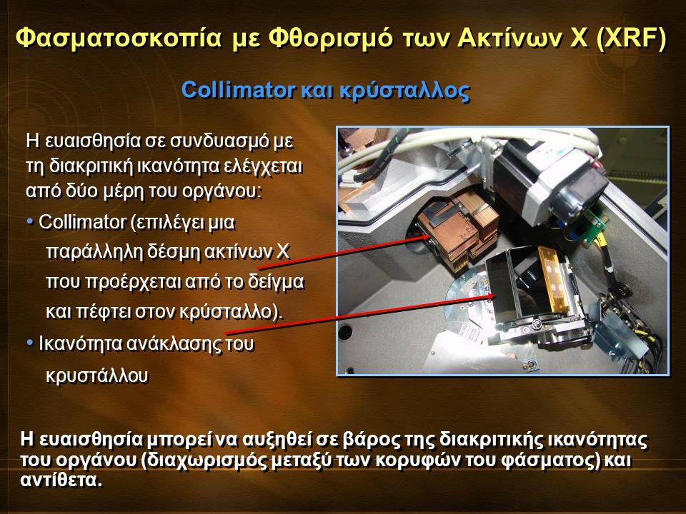 Η ευαισθησία σε συνδυασμό με τη διακριτική ικανότητα ελέγχεται από δύο μέρη του οργάνου: Collimator (επιλέγει μια παράλληλη δέσμη ακτίνων Χ που προέρχ