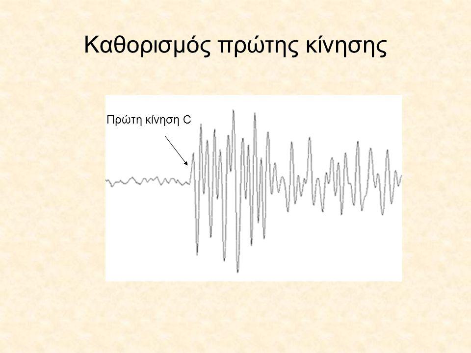 Σχηματική παράσταση της εύρεσης του επικέντρου με ένα σταθμό