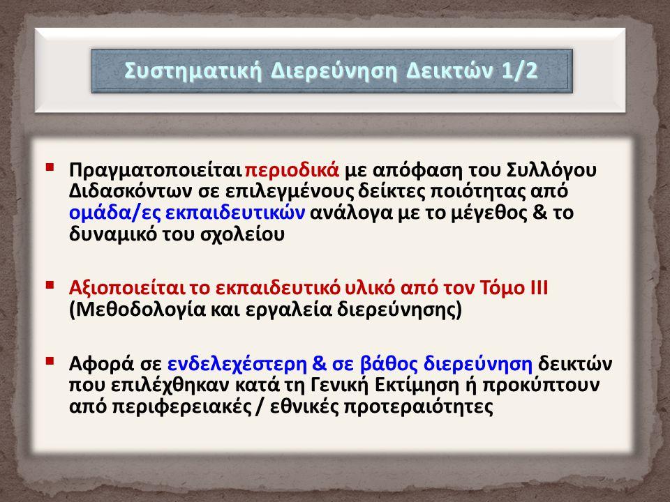 Συστηματική Διερεύνηση Δεικτών 1/2