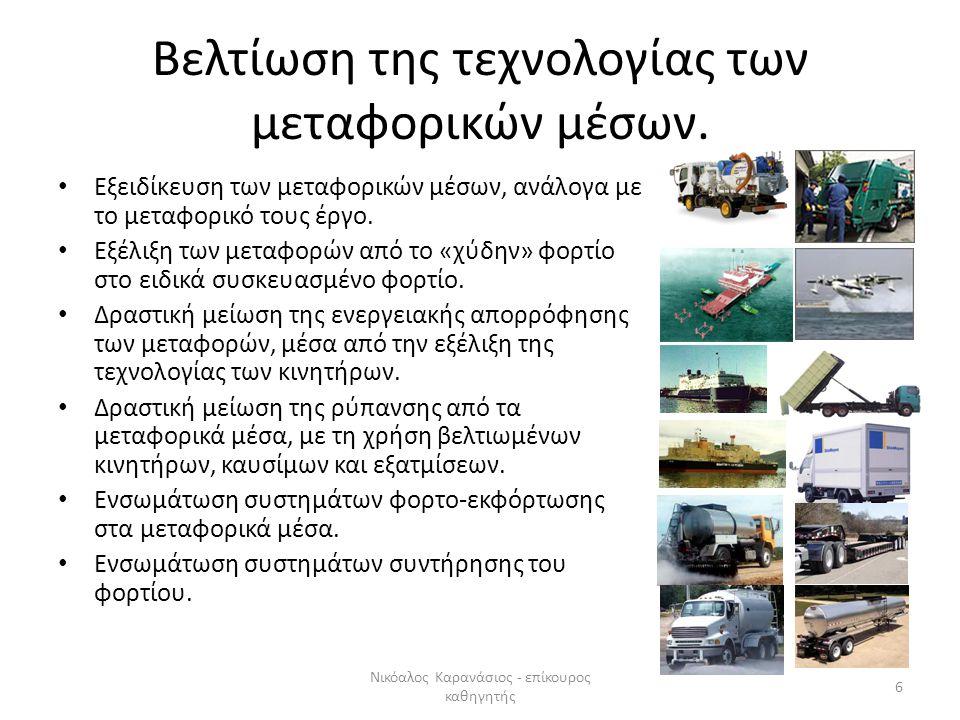 Η εξέλιξη και η σημασία του διεθνούς μεταφορικού συστήματος Συνεργασίες μεταφορικών επιχειρήσεων, σε διεθνές και εθνικό επίπεδο.
