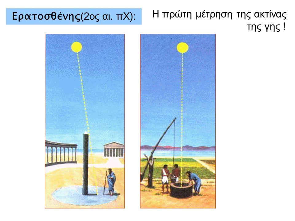 Ερατοσθένης (2ος αι. πΧ): Η πρώτη μέτρηση της ακτίνας της γης !