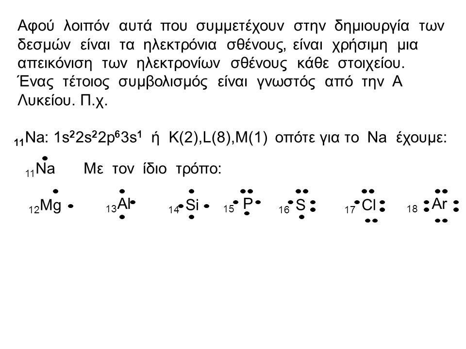 Μια θεωρία για την ερμηνεία των χημικών δεσμών: ηλεκτρονιακή θεωρία του σθένους Σύμφωνα με αυτή την προ-κβαντομηχανική θεωρία ισχύουν τα εξής: 1.Στους δεσμούς συμμετέχουν μόνο τα ηλεκτρόνια σθένους, δηλαδή τα ηλεκτρόνια της εξωτερικής στιβάδας.