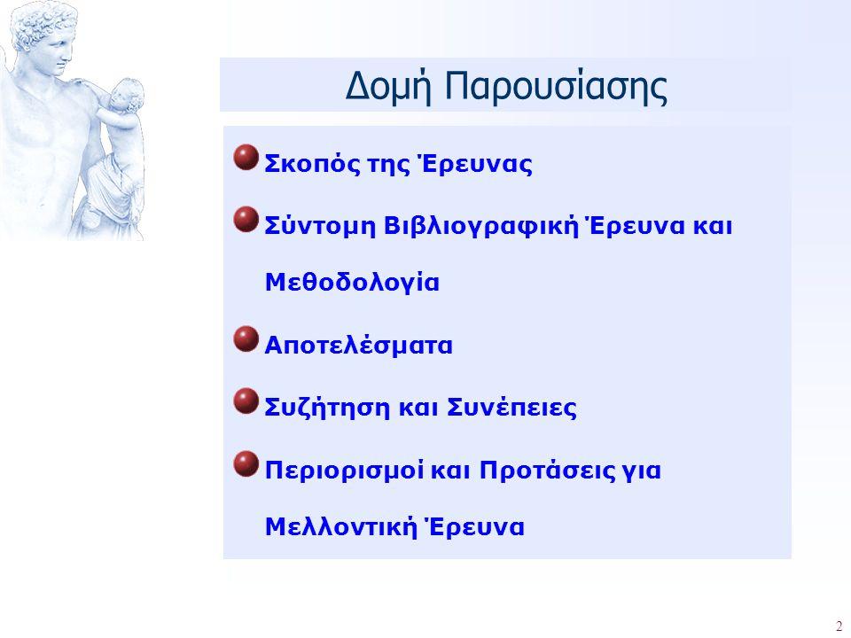 3 ΕΡΕΥΝΗΤΙΚΟΙ ΣΤΟΧΟΙ : Προσδιορισμός Επιπτώσεων Νοθείας σε: 1.