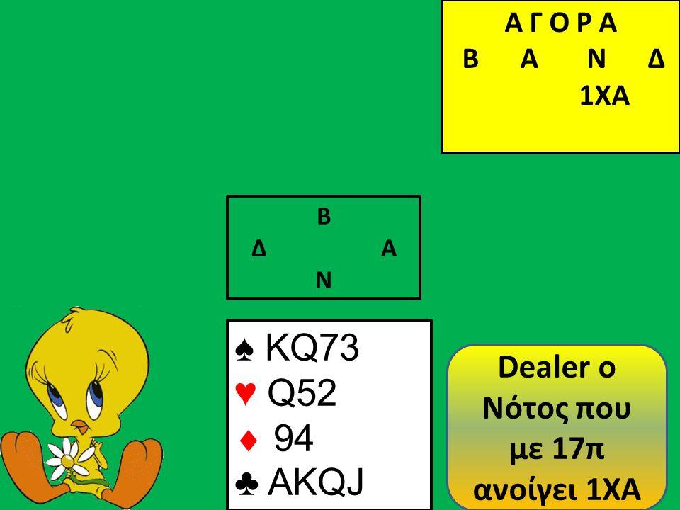 ..και θα παίξω πίκα προς τον ♠ Κ.Αν η Ανατολή βάλει τον ♠ Α θα βάλω μικρό αλλιώς θα βάλω τον ♠ Κ.